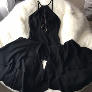Zara Woman Rare Bell Bottom Jumpsuit